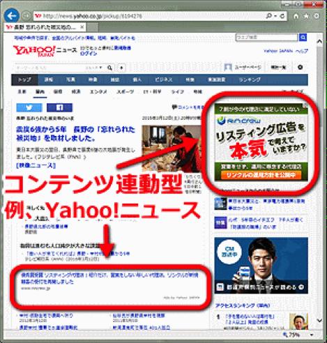 リスティング広告2|コンテンツ連動型広告